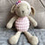 May's Hand Sheep Sheepy Sitting Pink Crochet