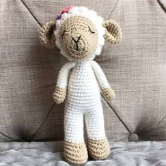 May's Hand Sheep Sheepy Standing Rattle Crochet
