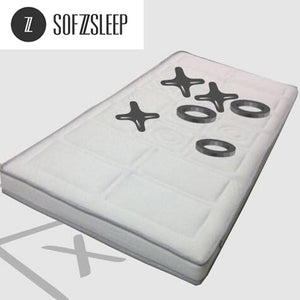 "Sofzsleep 4"" Hybrid Latex Tic-Tac-Toe Mattress"