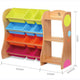 Joey's Solid Wood 12 Bins Toy Organiser with Shelves