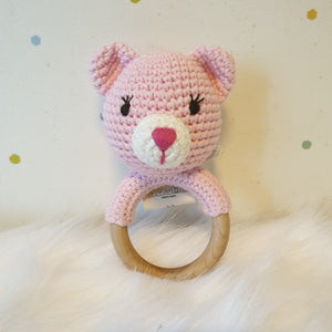 May's Hand Suri Cat Round Rattle Crochet