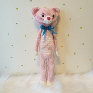 May's Hand Suri Cat Standing Crochet