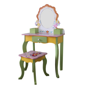LEKEN Fairies Orange Dressing Table & Chair