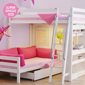 Tomato KidZ High Sleeper with Queen Bed Base