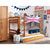 Tomato KidZ Single Low Bunk Bed (With trundle) - Union Jack Blue