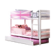 Tomato KidZ Single Low Bunk Bed (With trundle) - Union Jack Pink