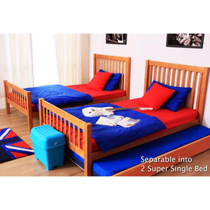 Tomato KidZ Youth Bunk Bed with Curtain & SS Trundle (Union Jack)