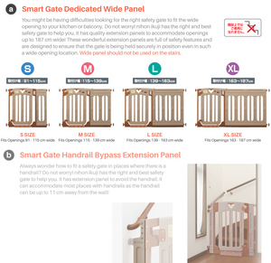 Nihon Ikuji Wide Extension Panel for Smart Gate - S to XL