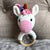 May's Hand Unicorn Pinky Round Rattle Crochet