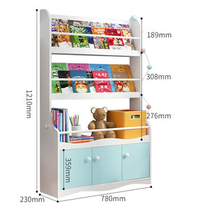 FIJN Standing Wall Bookshelf with Storage (Large)