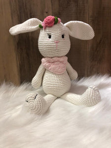 May's Hand Bunny Sitting Crochet