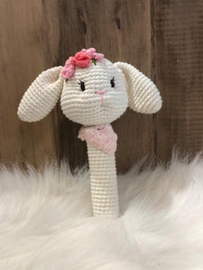 May's Hand Bunny Long Rattle Crochet
