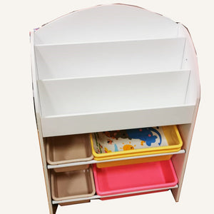 Joey's Magazine Rack with Colourful Bins for Toy Storage (Last pc)