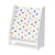 Joey's White Stars Fabric Magazine Rack