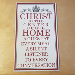 C&F Wooden Christ Is The Center Quote Plaque