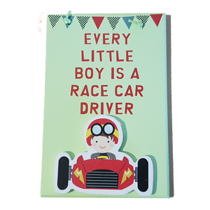 C&F Wooden Every Little Boy (Green) Fun Plaque