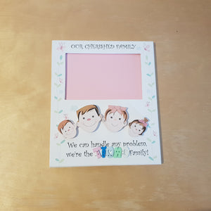 C&F Wooden Family Photo Frame Name Plate