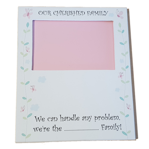C&F Wooden Family Plain Photo Frame