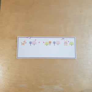 C&F Wooden Happy Forest Rectangle Plain Board
