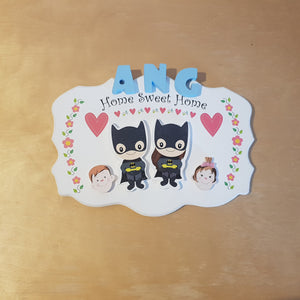 C&F Wooden Home Sweet Home Big Ribbon Plain Board