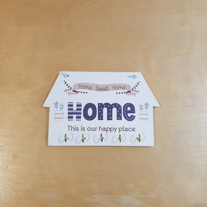 C&F Wooden Home This Is Our Happy Place Key Holder