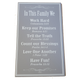 C&F Wooden In This Family We (Grey) Quote Plaque