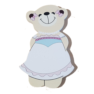 C&F Wooden Mama Bear Character - Pearl Dress