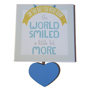 C&F Wooden On The Day You Were Born Fun Plaque
