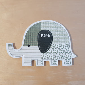 C&F Wooden Papa Elephant Character