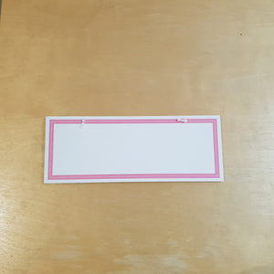 C&F Wooden Pink Border Rectangle Plain Board