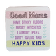 C&F Wooden Quote Magnet - Good Moms