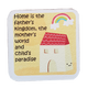 C&F Wooden Quote Magnet - Home Is The Father's Kingdom