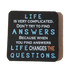 C&F Wooden Quote Magnet - Life Is Very Complicated