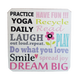 C&F Wooden Quote Magnet - Practise Yoga Daily