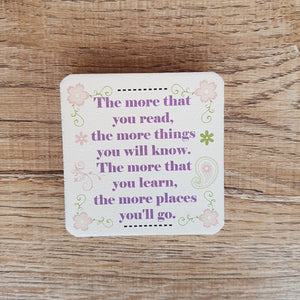 C&F Wooden Quote Magnet - The More You Read