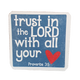 C&F Wooden Quote Magnet - Trust In The Lord