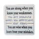 C&F Wooden Quote Magnet - You Are Strong