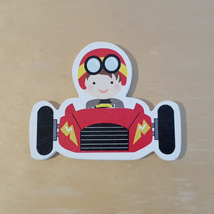 C&F Wooden Red Racing Car Character