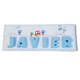 C&F Wooden Road to School Rectangle Name Plate