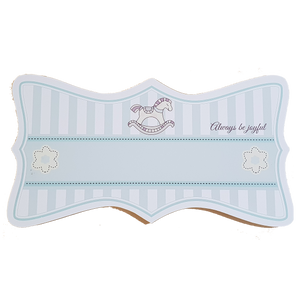 C&F Wooden Rocking Horse Ribbon Plain Board