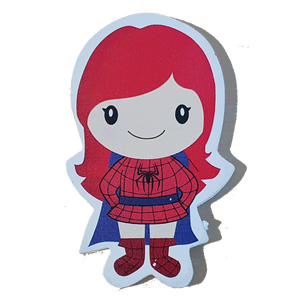 C&F Wooden Spider Girl Character