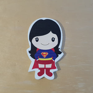C&F Wooden Super Girl Character