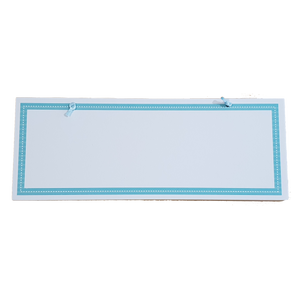C&F Wooden Teal Border Rectangle Plain Board