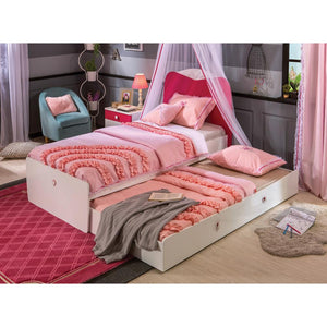 Cilek Yakut Basic Bed(90X190 Cm) W Pull-Out Bed (90X180 Cm)
