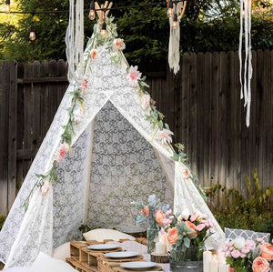 PETIT Lace Teepee With Mat and Lights
