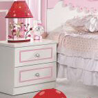 HB Rooms Oval Ribbon Bedside Table (968#)
