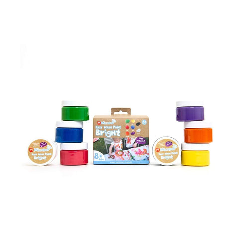 Micador // Easy Wash Paint - Bright, 60ml Tubs, Pack 8 Micador jR. - Baby and the Gang