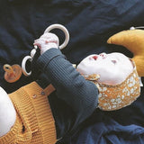 Bezisa Wooden Rattle Teether 'O' Natural - Baby and the Gang