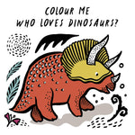 Wee Gallery Bath Book: Who's loves Dinosaurs? - Baby and the Gang