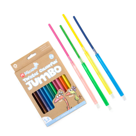 Micador // Twistaz Jumbo Crayons // 12 Pack - Baby and the Gang